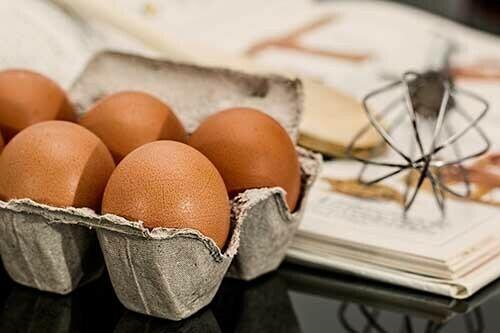 huevo con hierro
