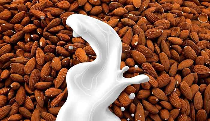 cómo hacer leche de almendras para adelgazar